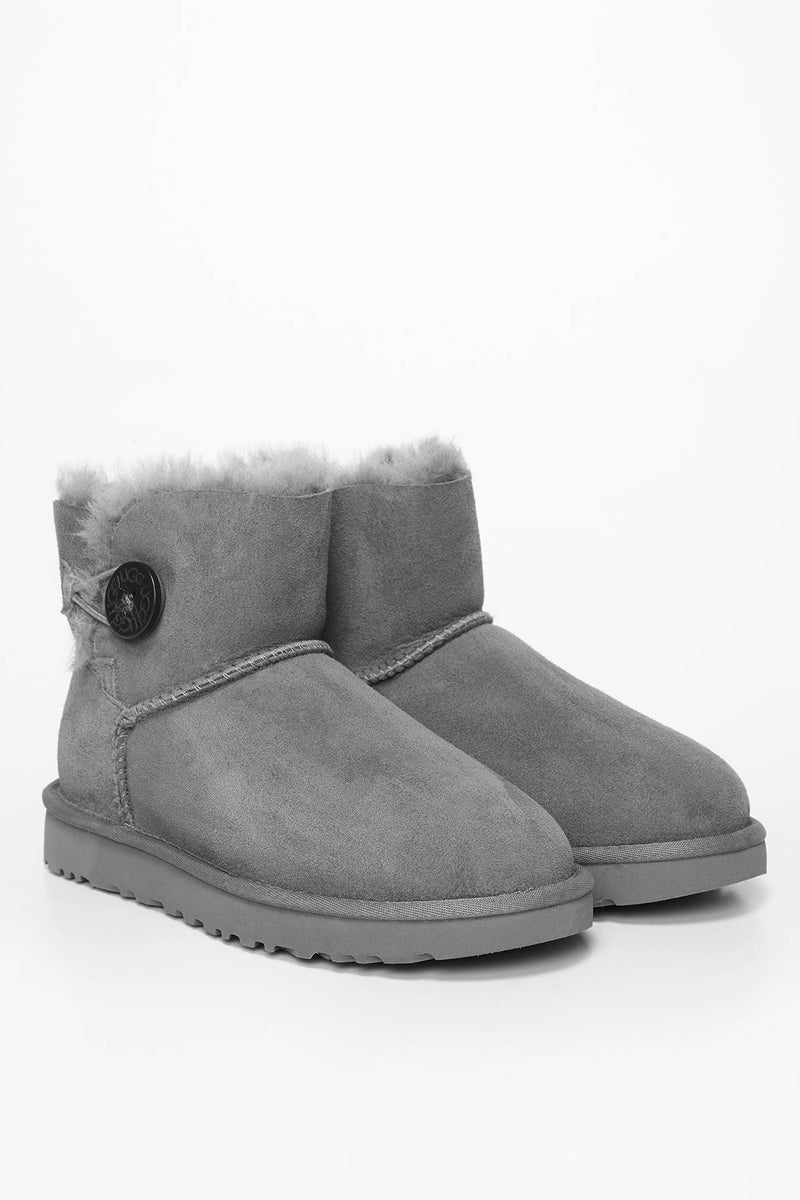 #00008  UGG obuv, sněhule MINI BAILEY BUTTON II GREY