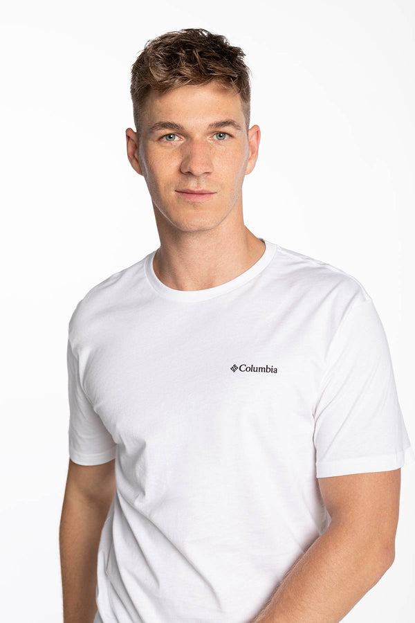 #00026  Columbia tričko North Cascades Short Sleeve Tee 041 WHITE
