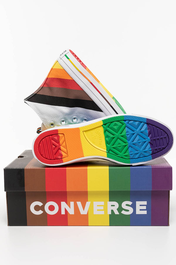 #00054  Converse obuv, tenisky Chuck Taylor All Star Pride 167758C WHITE/UNIVERSITY RED