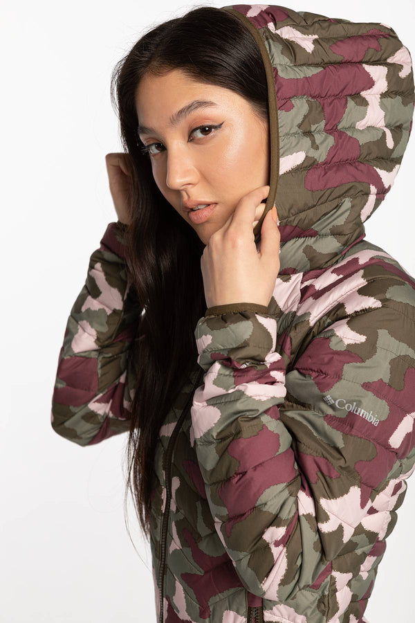 #00016  Columbia oblečení, bunda Powder Lite Hooded Jacket 1699071-320 CAMO