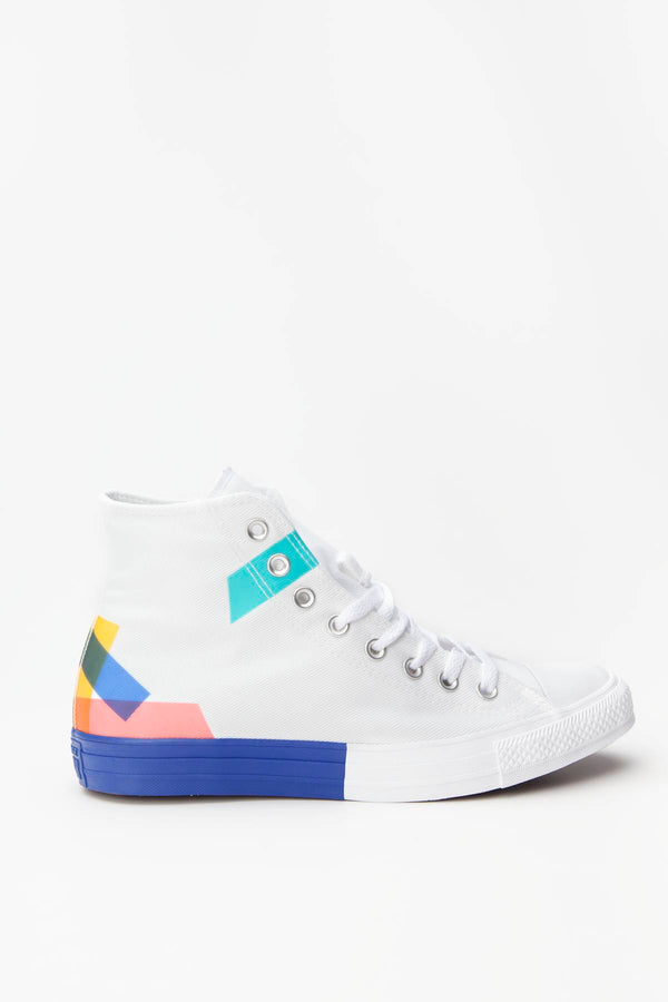 #00079  Converse obuv, tenisky CHUCK TAYLOR ALL STAR HI 092 WHITE/BLUE/ENAMEL RED