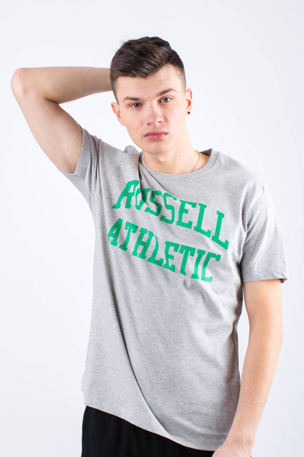 #00003  Russell Athletic tričko CREW NECK TEE 091 NEW GREY MARL