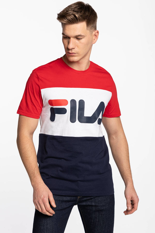 #00001  Fila tričko MEN DAY TEE G06 BLACK IRIS/TRUE RED/BRIGHT WHITE