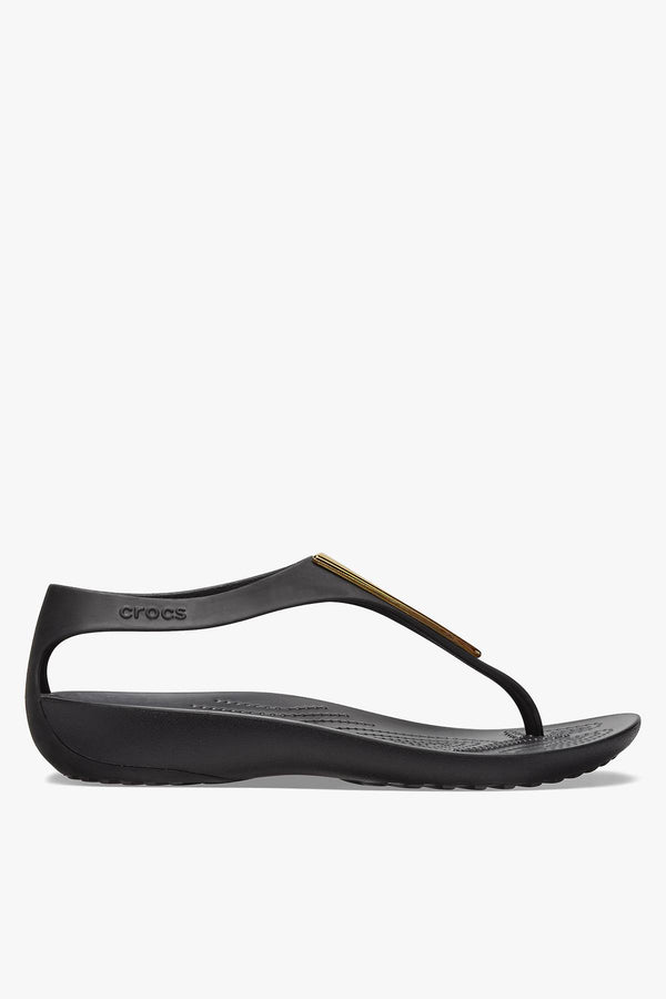 #00122  Crocs obuv, flip-flopy SERENA METALLIC BAR FLIP W 206420 GOLD/BLACK