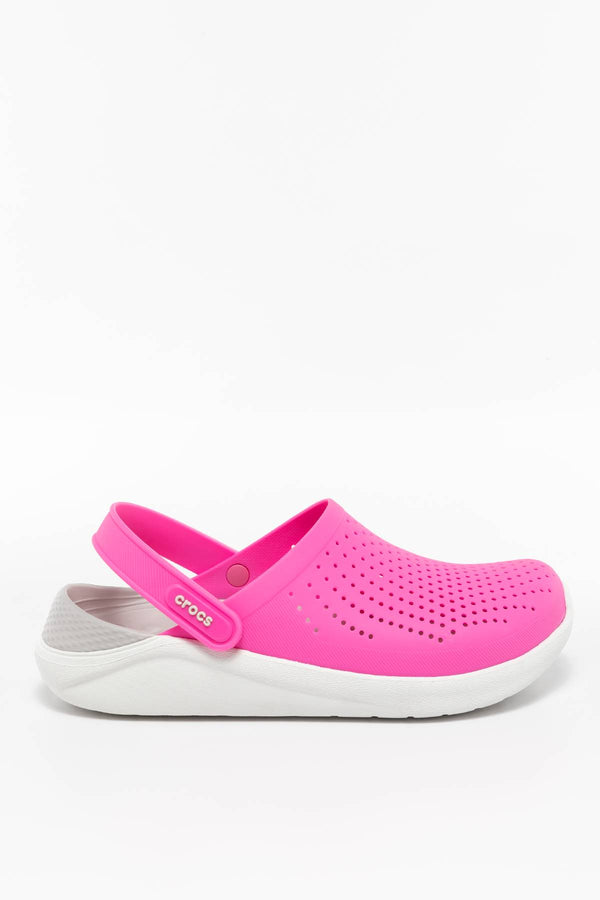 #00061  Crocs obuv, flip flopy LITERIDE CLOG 6QV ELECTRIC PINK/ALMOST WHITE