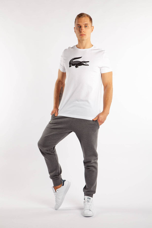 #00020  Lacoste tričko MEN T-SHIRT AU8 WHITE/BLACK