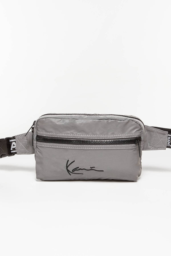 #00037  Karl Kani sáček KK Signature Tape Hip Bag 159 SILVER