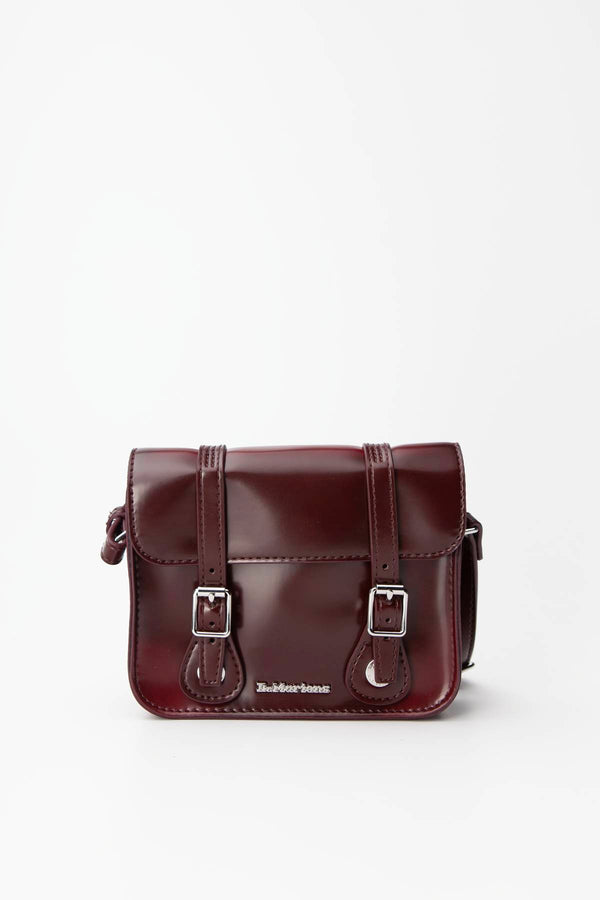 "#00090  Dr.Martens tašky a batohy, taška 7"" VEGAN SATCHEL 601 CHERRY RED CAMBRIDGE BRUSH"