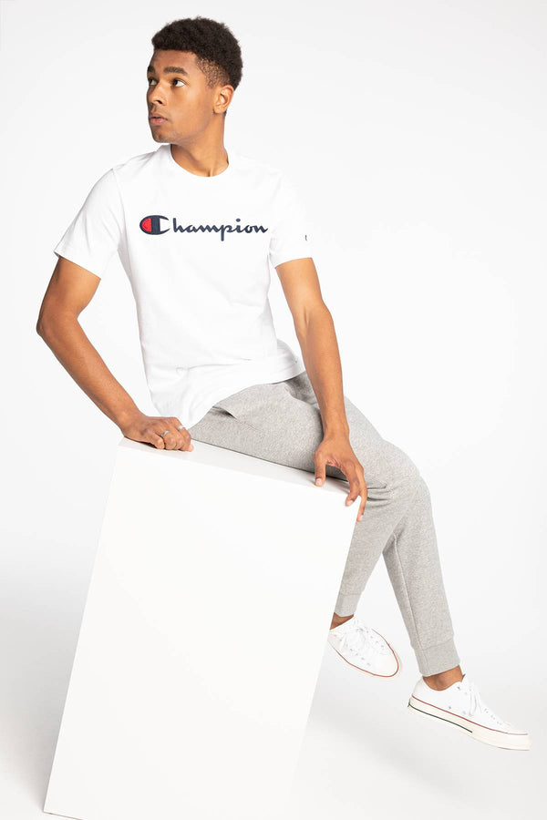 #00102  Champion tričko Crewneck T-Shirt 726 WHITE