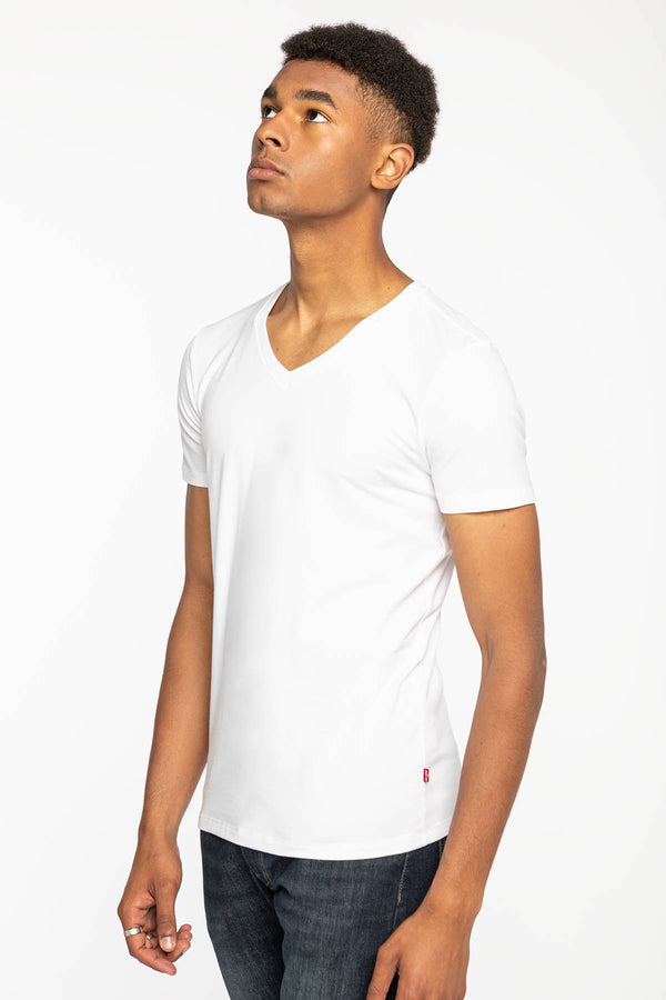 #00043  Levi's tričko MEN V-NECK 2PACk 37152-0004 WHITE