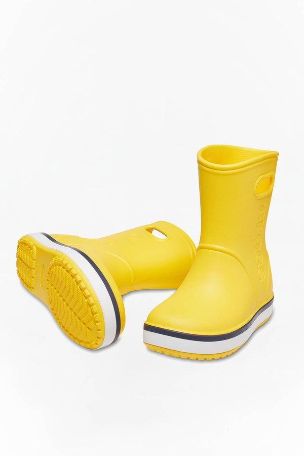 #00031  Crocs obuv, holínky CROCBAND RAIN BOOT KIDS 205827 YELLOW/NAVY
