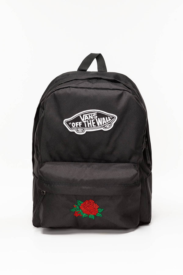 #00088  Vans tašky a batohy, batoh REALM BACKPACK BLK CLASSIC ROSE