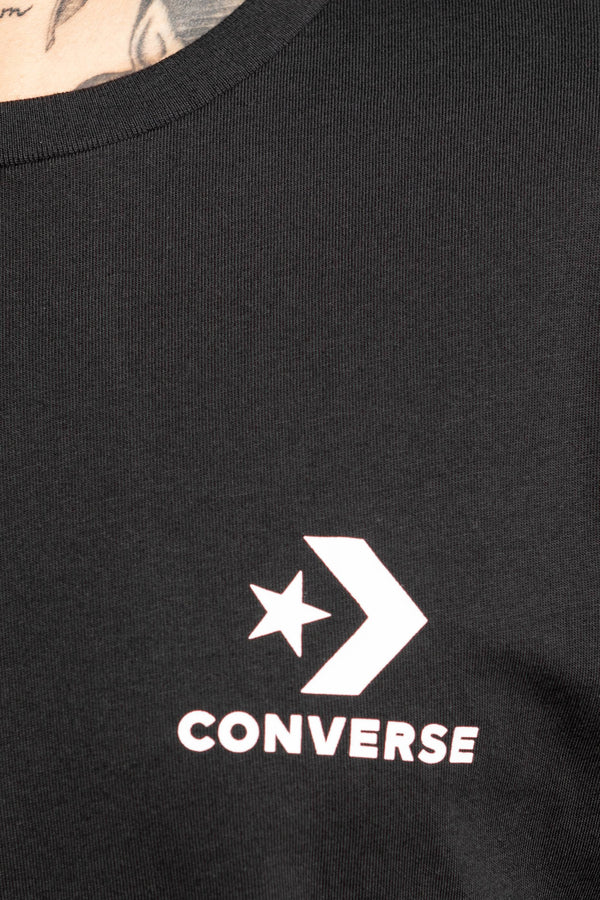 #00175  Converse tričko Left Chest Star Chevron 10018234-A02 BLACK