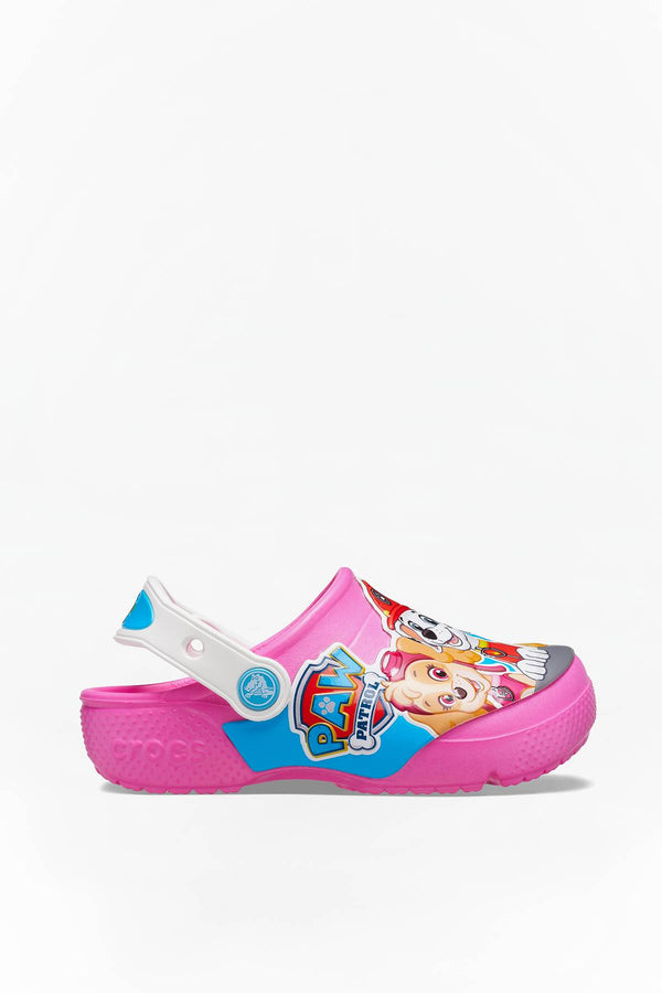 #00047  Crocs obuv, flip flopy FUN LAB PAW PATROL CLOG KIDS 6QQ ELECTRIC PINK