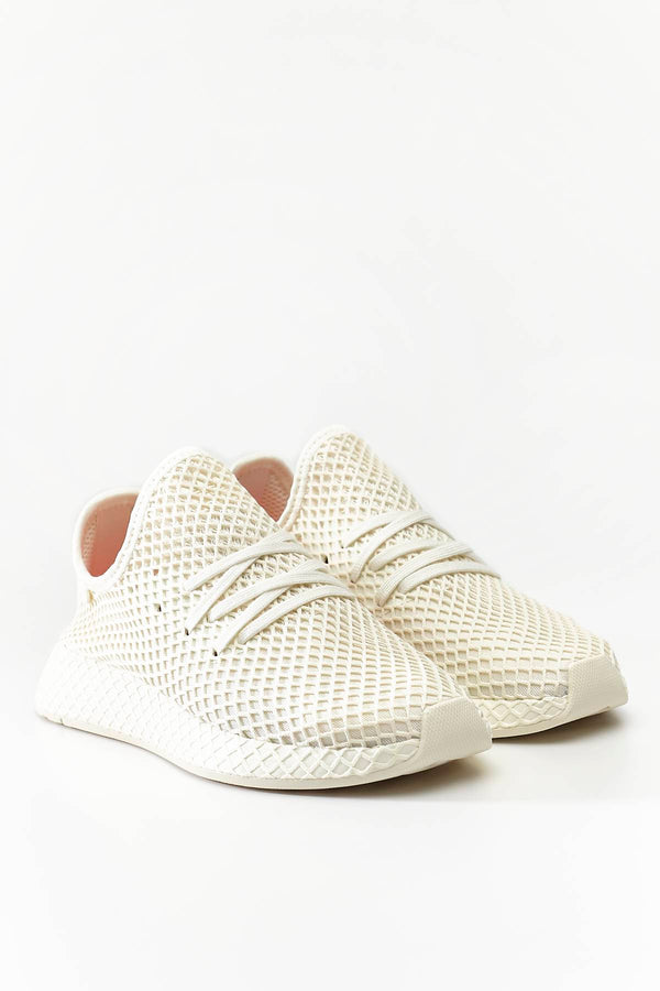 #00128  adidas obuv, tenisky DEERUPT RUNNER OFF WHITE/CLOUD WHITE/SHOCK RED