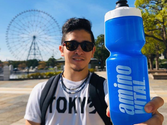 olympic karate athlete gakuji training with amino vital