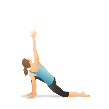 Yoga Pose: Lunge on the Knee with Arm Extended Up