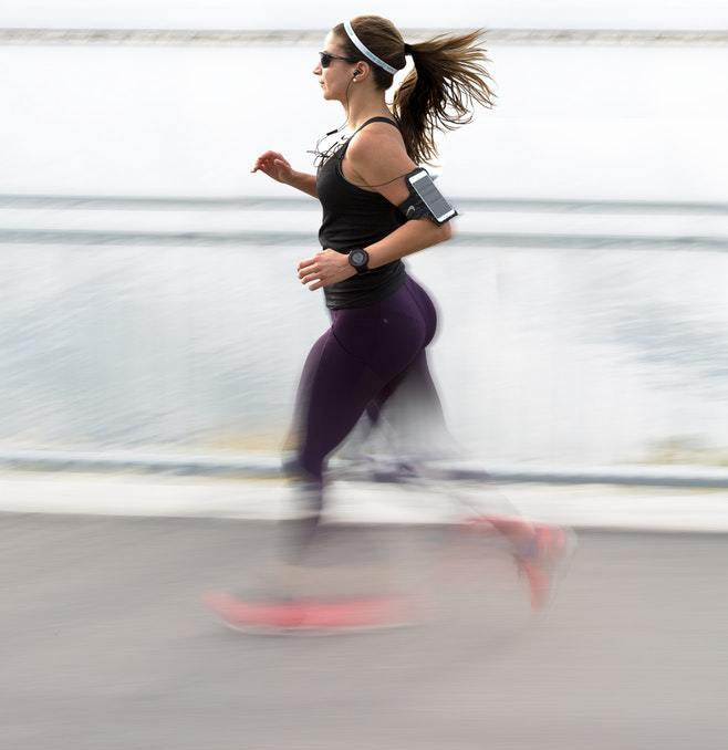 look at your running stride