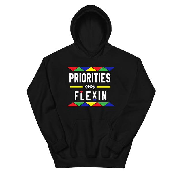 * PRIORITIES OVER FLEXIN BLACK MULTI HOODIE