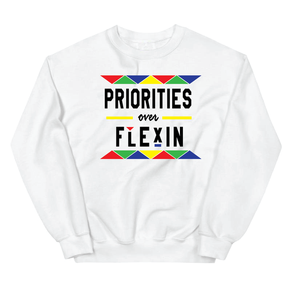 * PRIORITIES OVER FLEXIN - WHITE MULTI - CREW