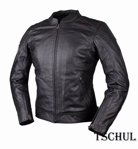 (0635) DAMEN MOTORRAD-LEDERJACKE *VINTAGE-LOOK* ALL-BLACK