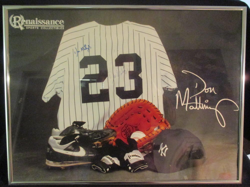 Don Mattingly Auto Signed Poster from Renaissance Sports Collectibles, Certificate of Authenticity from The Home Plate