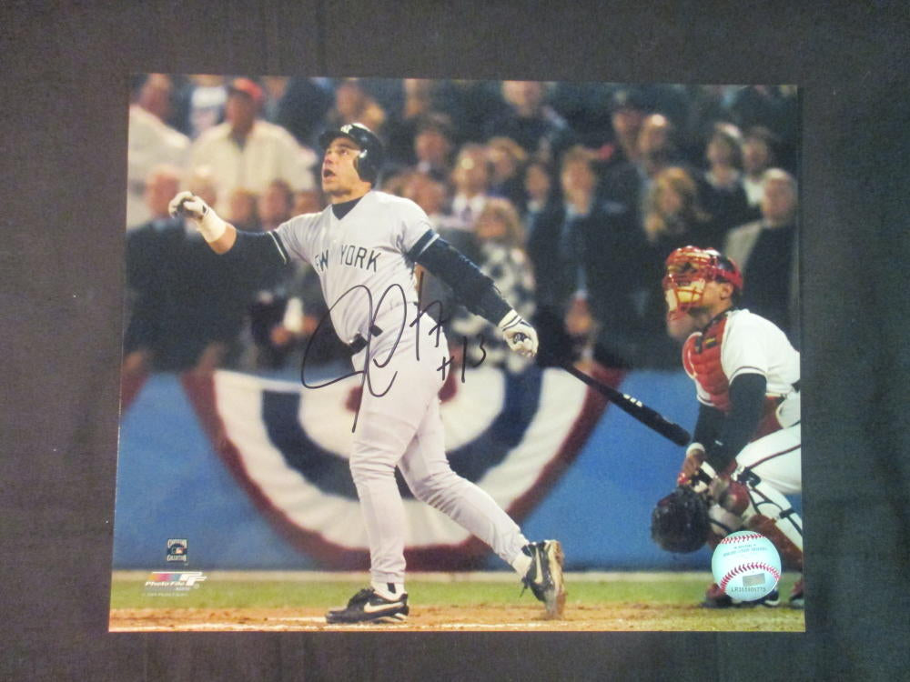 Jim Leyritz New York Yankees 8x10 Auto Signed Photo With Hologram Authenticity Watching His Home Run