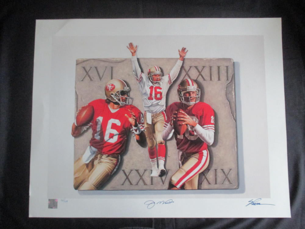 "Joe Montana limited edition (42/49) Steve Parson ""The Legend"" lithograph 22x28 print"