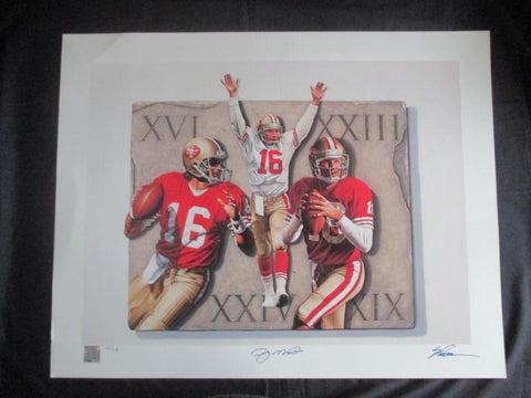 Joe Montana limited edition (42/49) Steve Parson