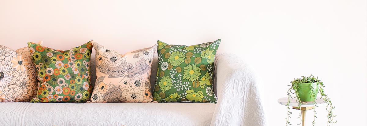 The boho chic collection of cushions
