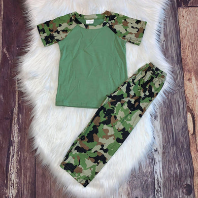 Brother & Sister Matching Camo Loungewear-Boys