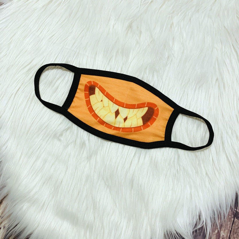 Monster Facemask-Orange Smile