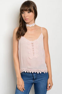 Powder Pink Sheer Tank