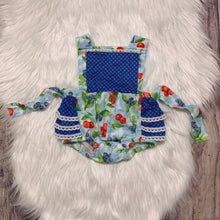 Load image into Gallery viewer, Blueberry Cherry Ruffle Bubble with Adjustable Straps