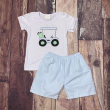 Load image into Gallery viewer, Embroidered Golf Carts Brother & Sister Matching Shorts Sets
