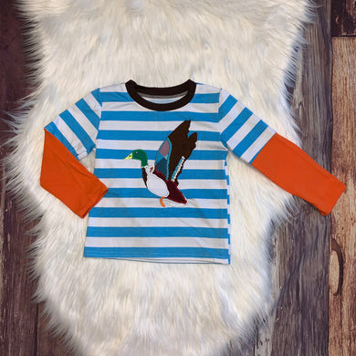 Embroidered Mallard Raglan