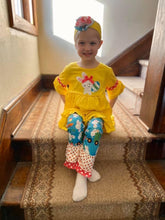 Load image into Gallery viewer, Loads of Eggs Yellow EASTER Tunic Set