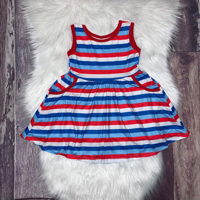 Patriotic Stripes Pocket Dress