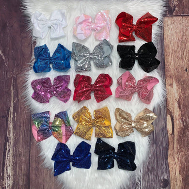 Sequin 8 Inch Hair Bows