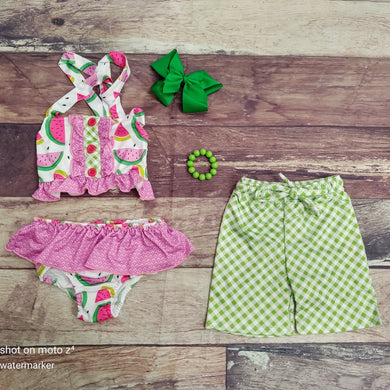 Water Melon Sibling Swim Suit Collection