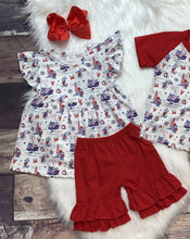 Load image into Gallery viewer, Ahoy Mickey Flutter Sleeve Tunic Short Set & Tee