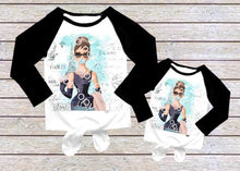 Load image into Gallery viewer, Audrey Hepburn Childrens Long Sleeve Knot Raglan