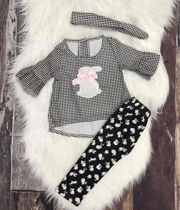 Black and White Easter Bunny Set