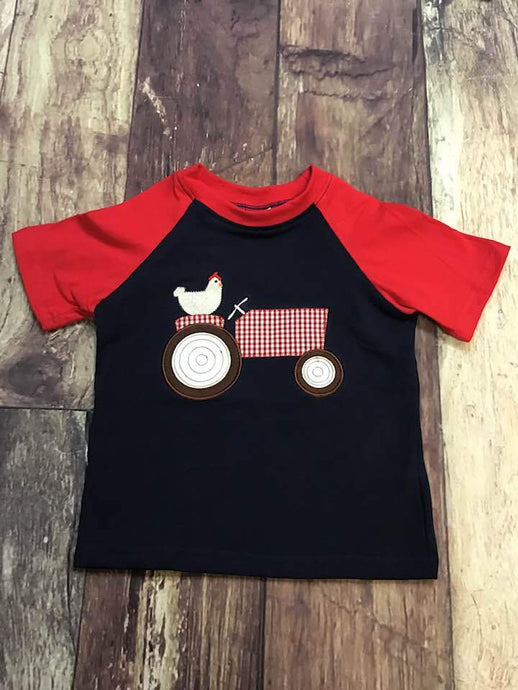 Embroidered Chicken Tractor Tee