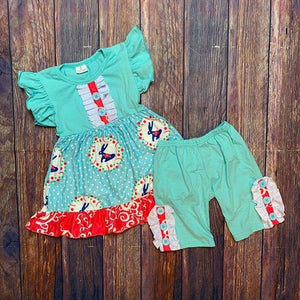 Blue Easter Shorts Set