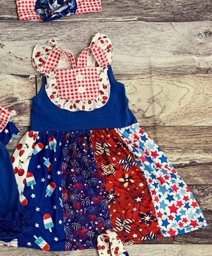 Americana Bomb Pop Panel Dress - 4th of July
