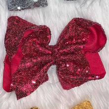 Load image into Gallery viewer, Sequin 8 Inch Hair Bows