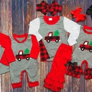 Buffalo Plaid Girls set