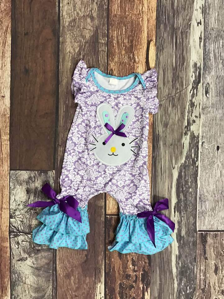 Blue & Purple Bunny Romper
