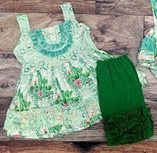 Cactus Collection Printed Tunic and Shorts Set